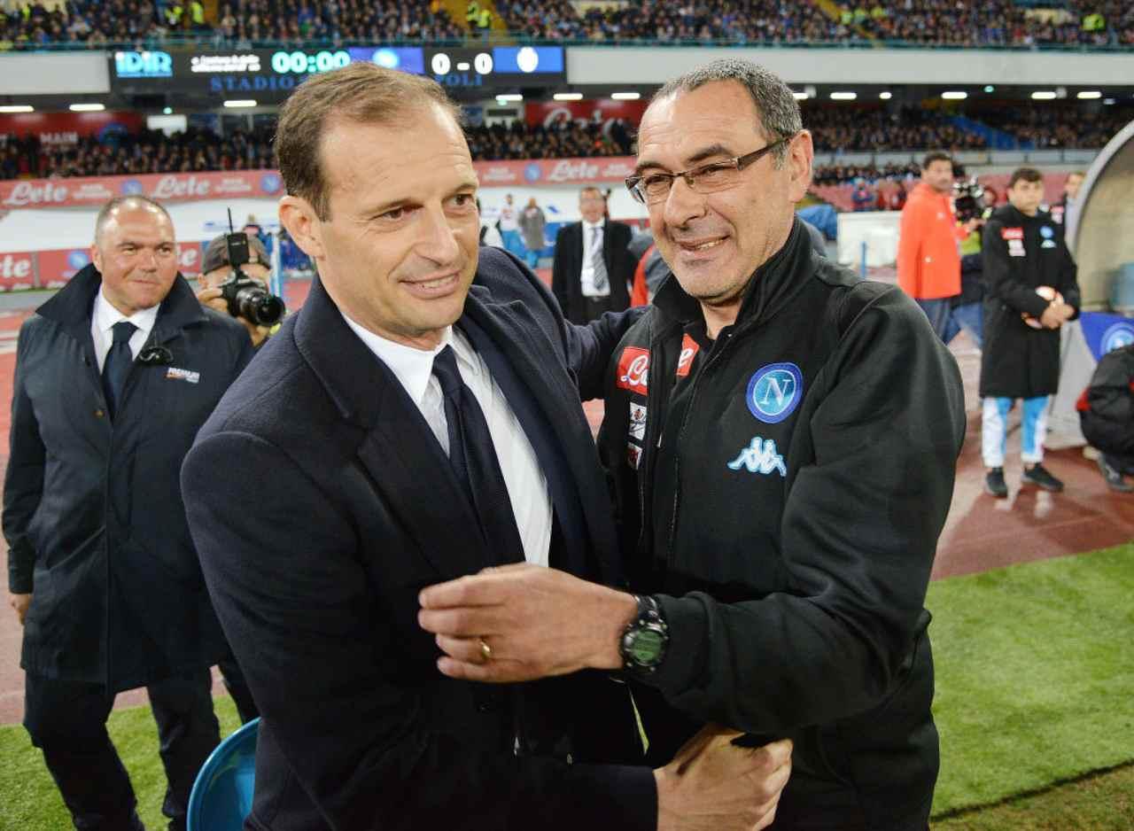 Massimiliano Allegri e Maurizio Sarri (Getty Images)
