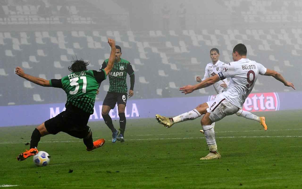 Sassuolo torino gol belotti
