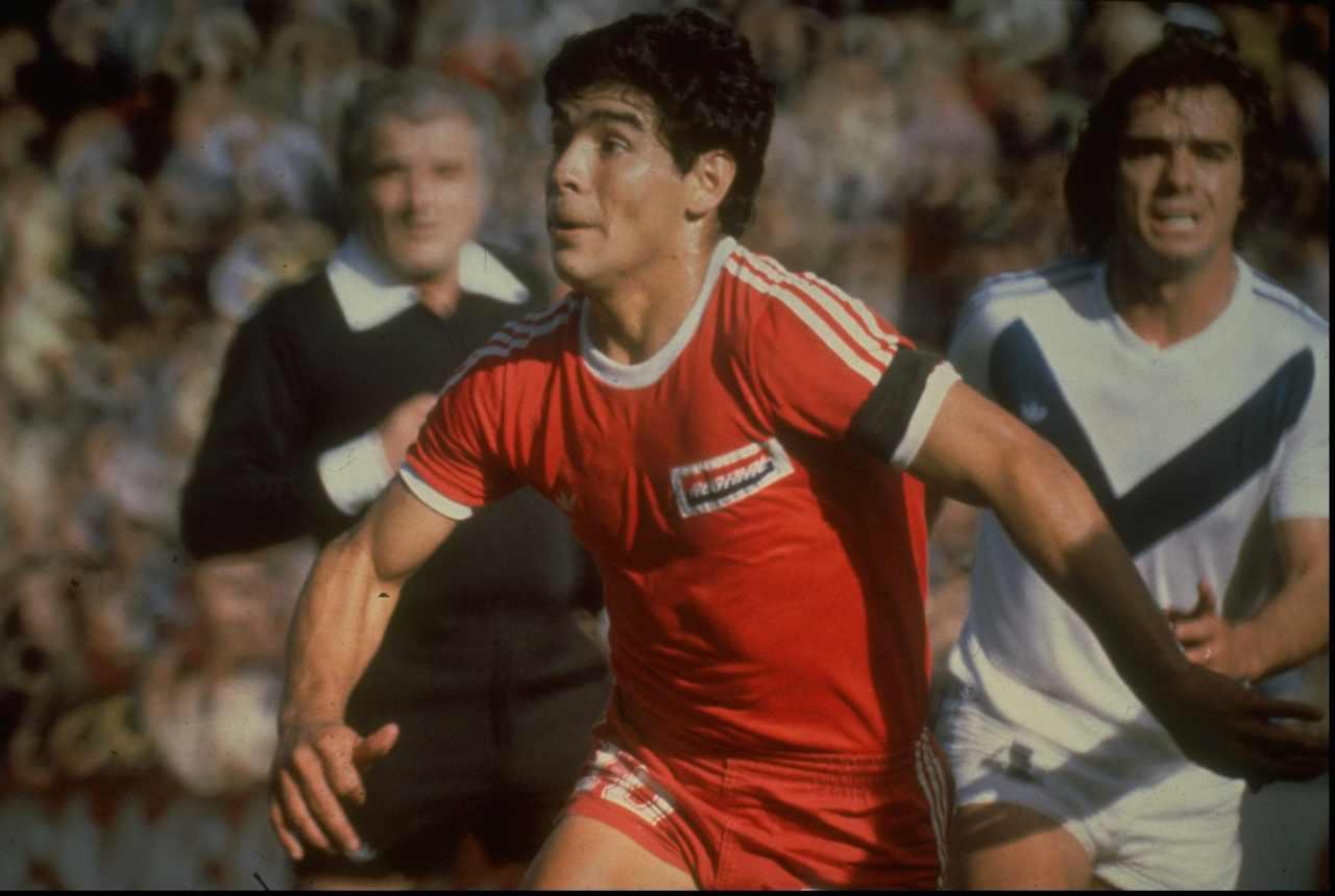 Diego Maradona con l'Argentinos Juniors