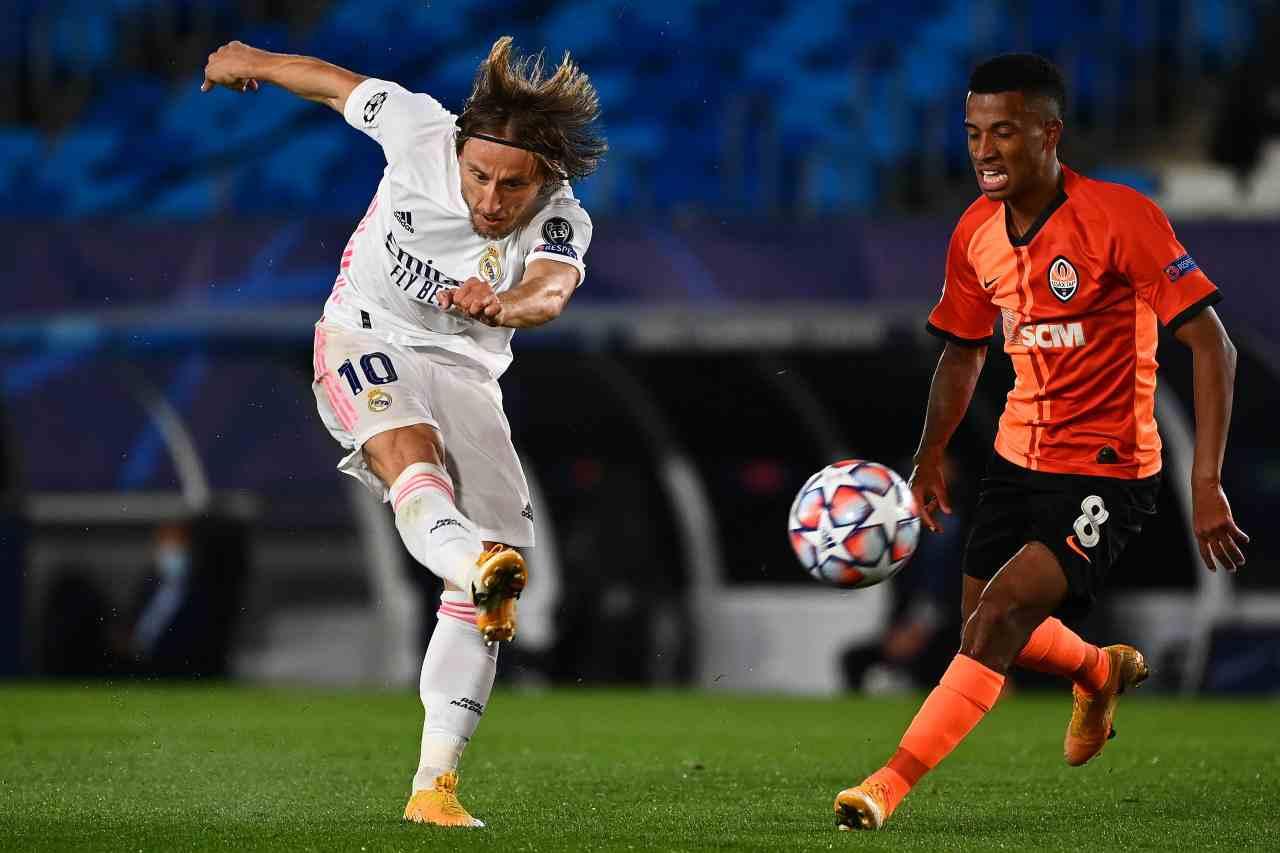 Champions League, Modric scuote il Real