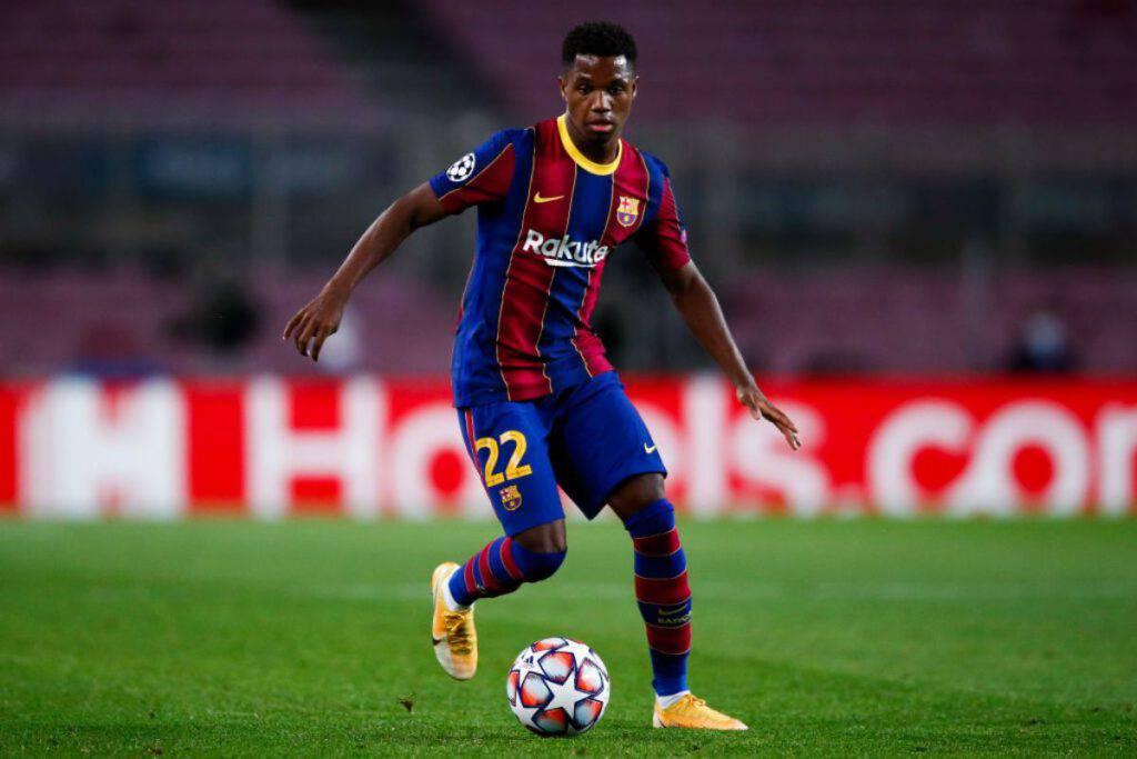 Ansu Fati Infortunio Barcellona