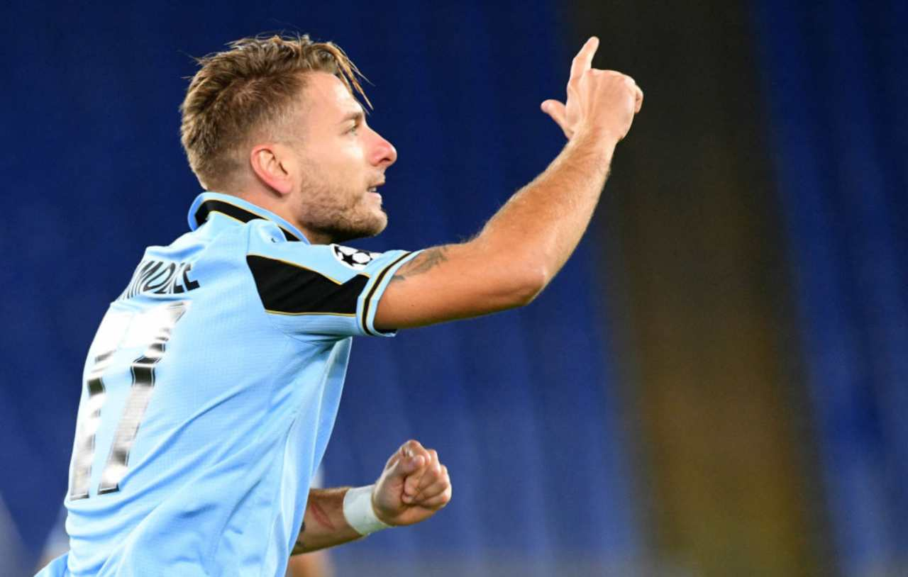 Immobile ci sarà in Lazio-Fiorentina (Getty Images)