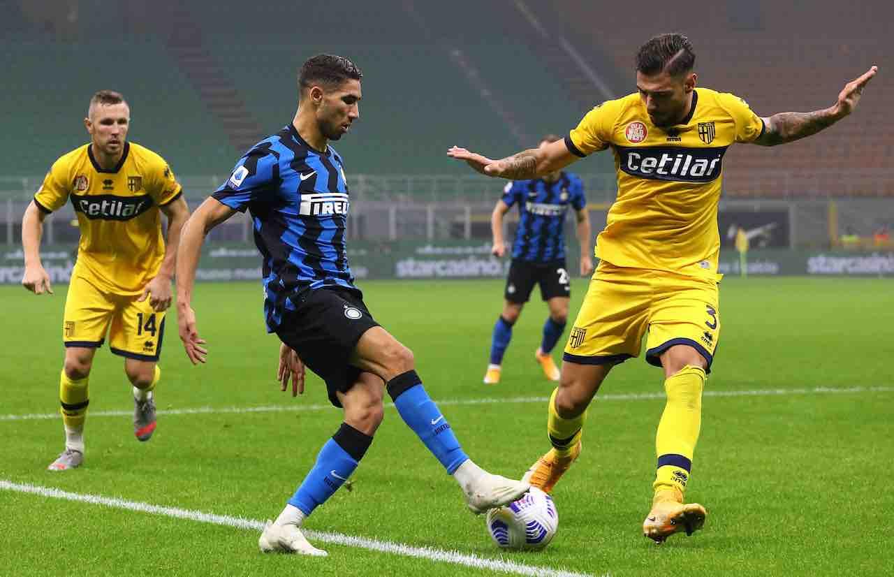 Parma-Inter precedenti