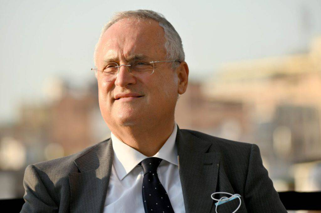 Claudio Lotito, le congratulazioni a Fares (Getty Images)