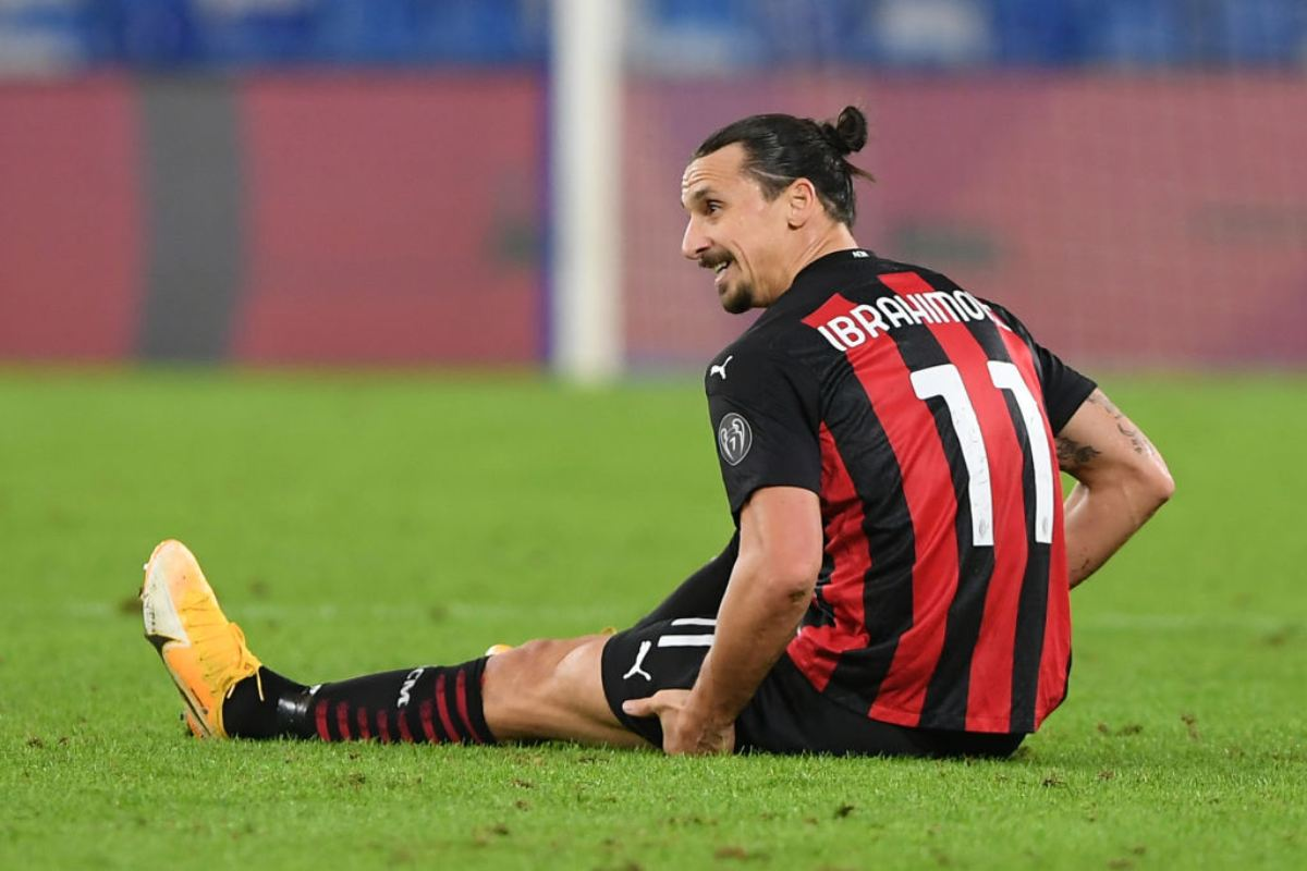 Ibrahimovic Milan Infortunio