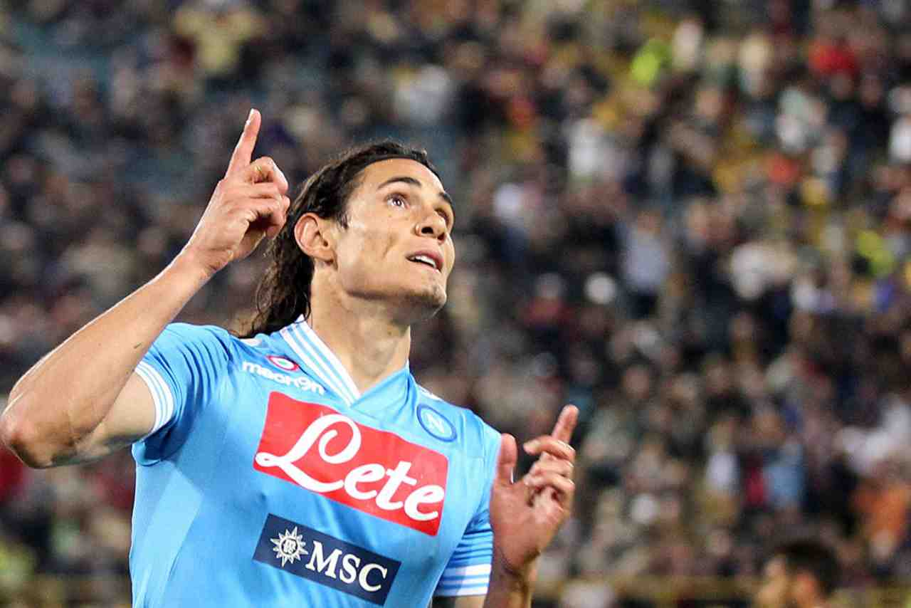 Cavani gol contro Roma
