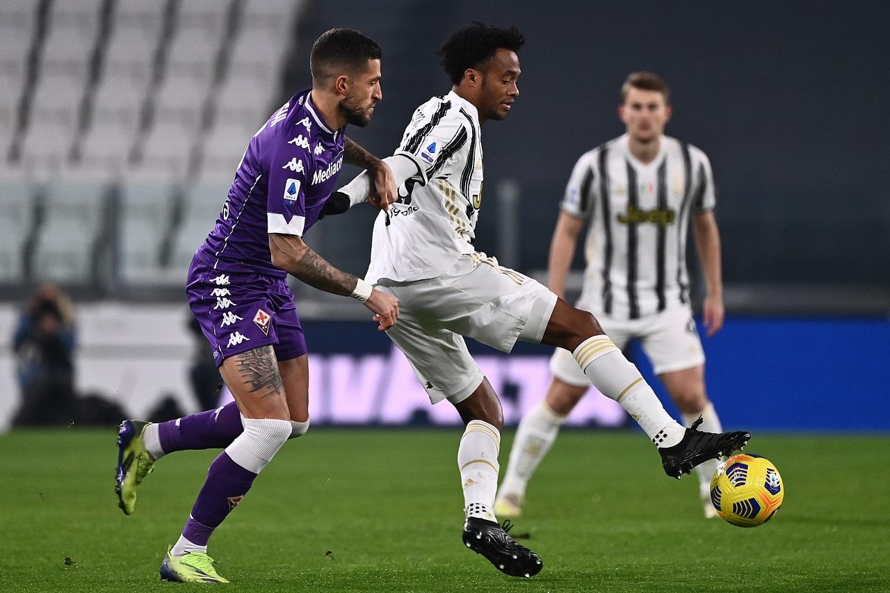 Cuadrado espulso in Juventus-Fiorentina