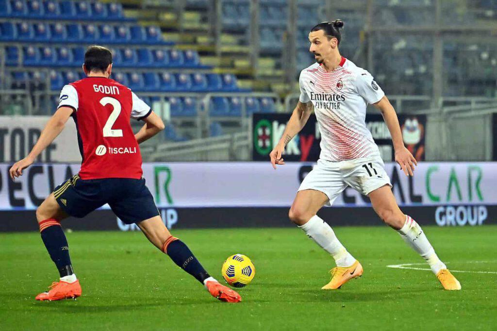 Ibrahimovic determinante in Cagliari-Milan (Getty Images)