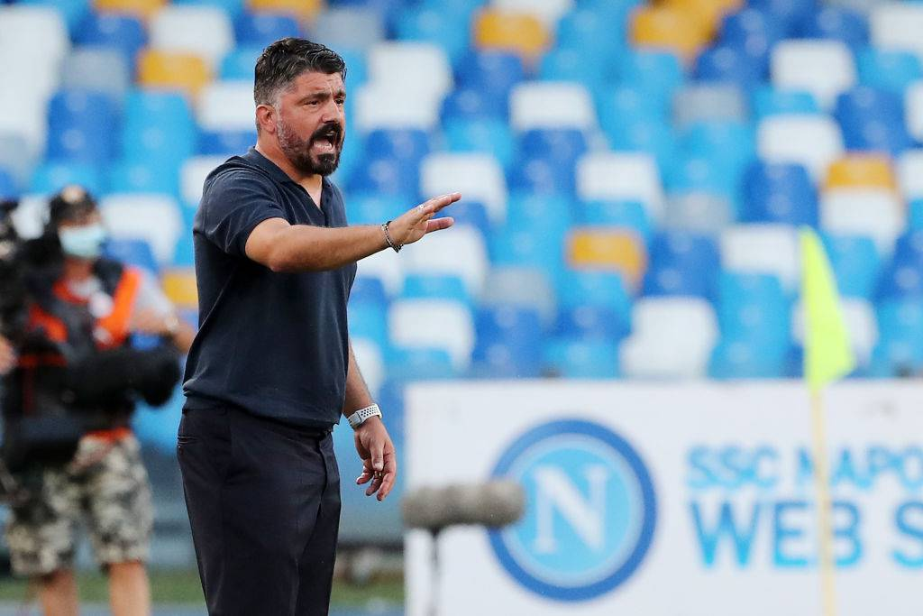 Napoli, il destino di Gattuso in un tweet (Getty Images)