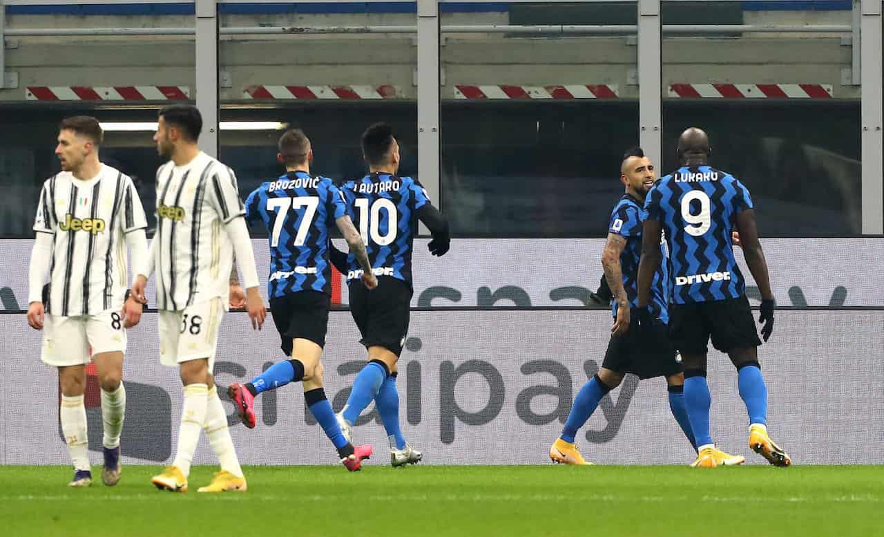 Inter-Juventus, le reazioni al gol di Vidal (Getty Images)