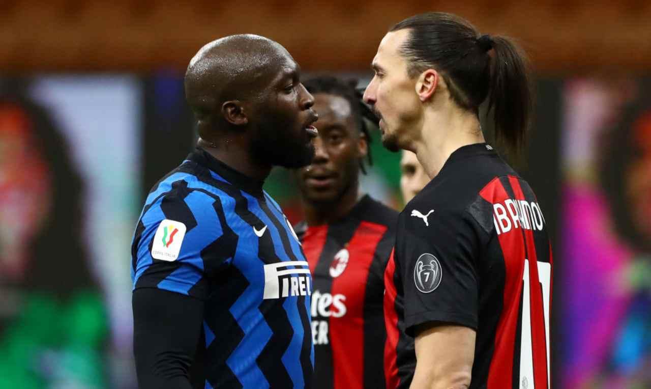 Scontro tra Lukaku e Ibrahimovic