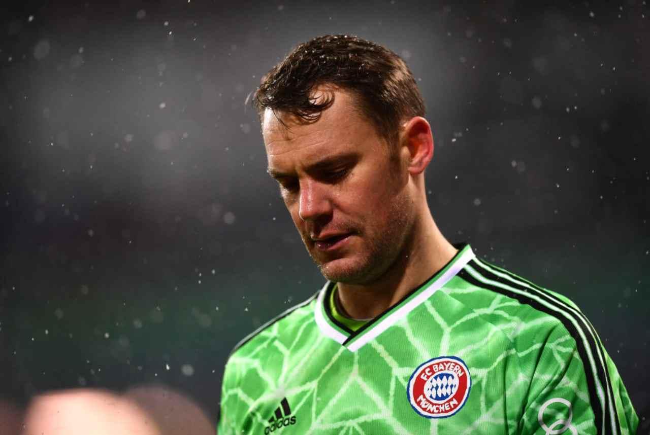 Bayern Monaco, la delusione di Neuer dopo l'eliminazione (Getty Images)
