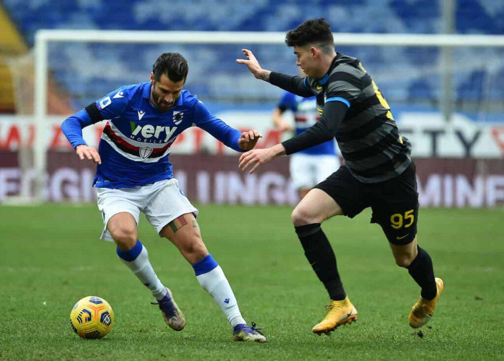 Sampdoria-Inter, Conte rammaricato (Getty Images)