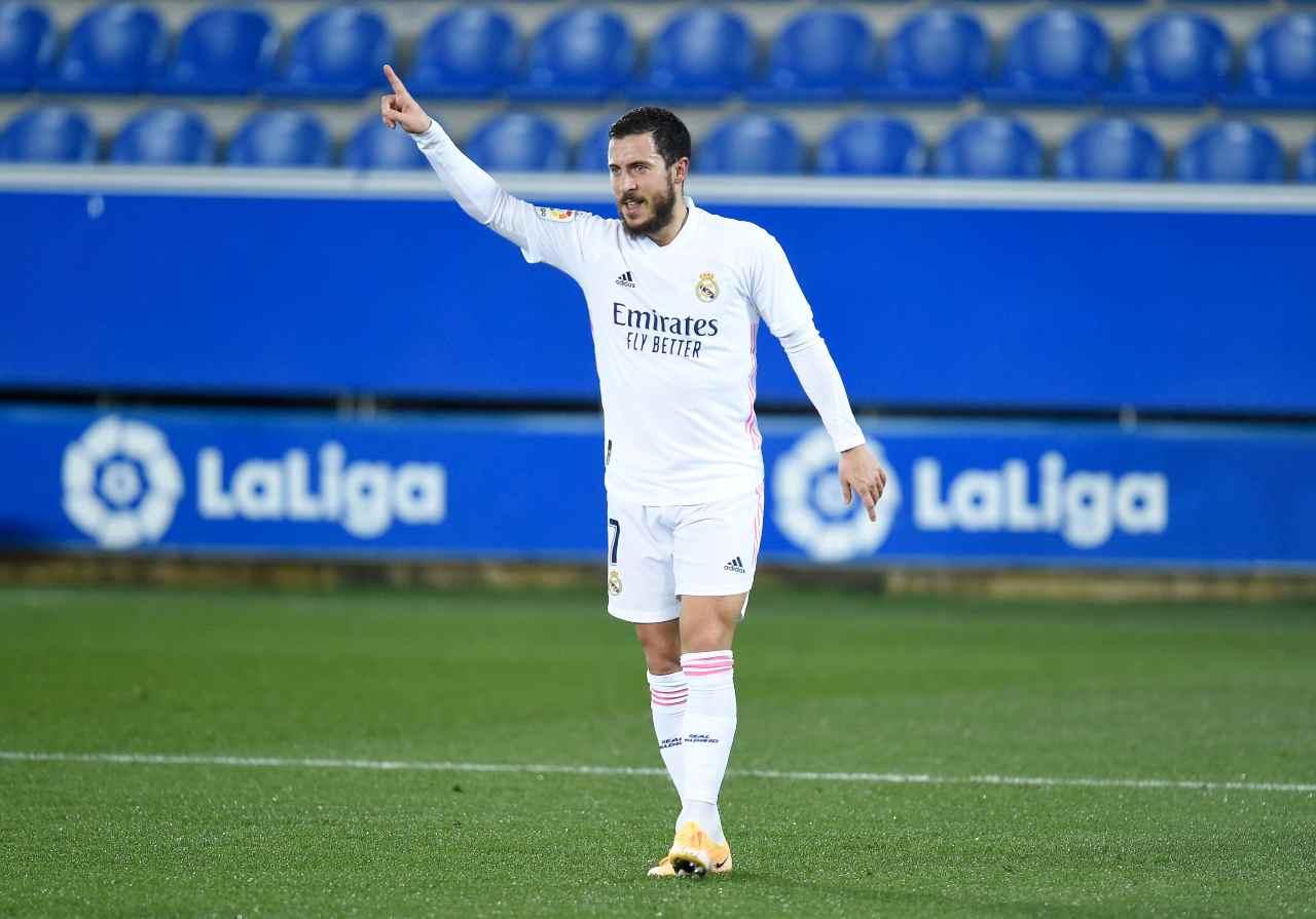 Real Madrid, il ritorno di Hazard vale il poker all'Alaves