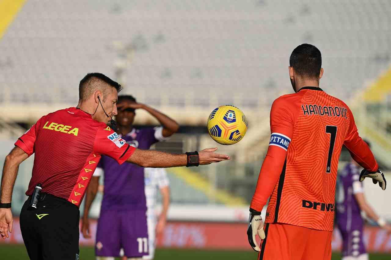 Moviola Fiorentina-Inter, il rigore tolto ai viola
