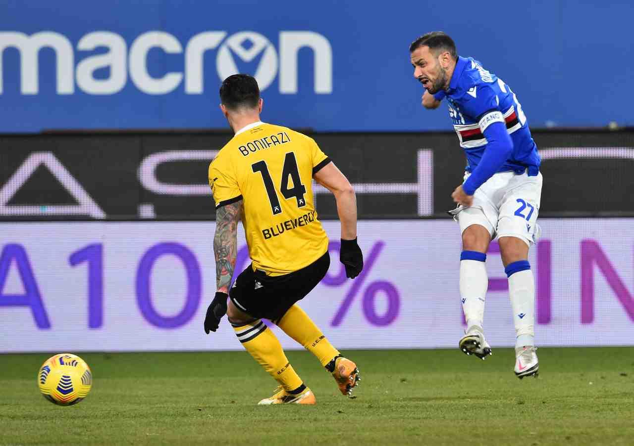 Serie A, la sintesi di Sampdoria-Udinese