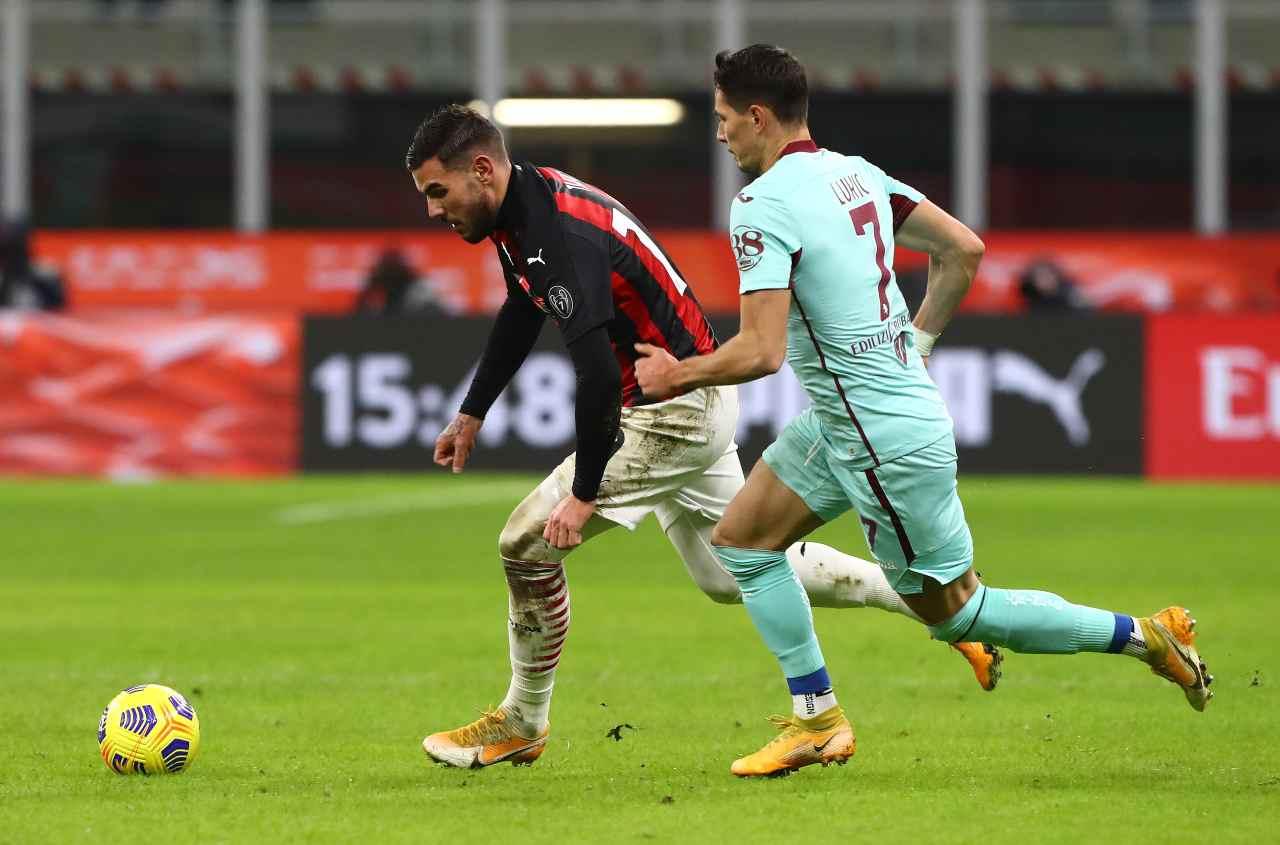 I difensori top nella 18ma giornata: Theo Hernandez (foto Getty)