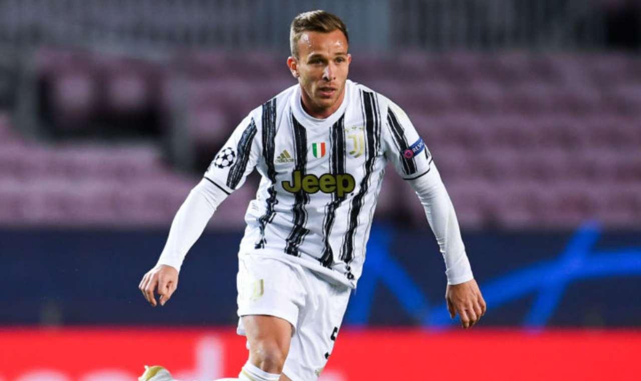 Arthur infortunio Juventus