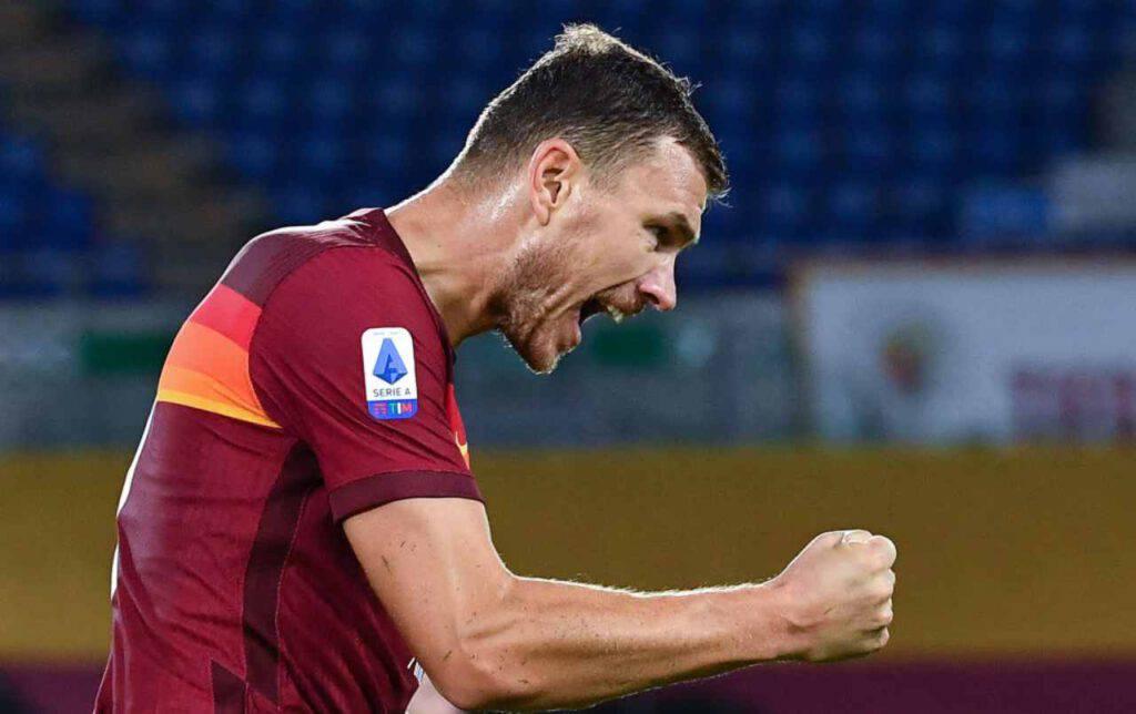 Dzeko, gol e record in Roma-Braga (Getty Images)