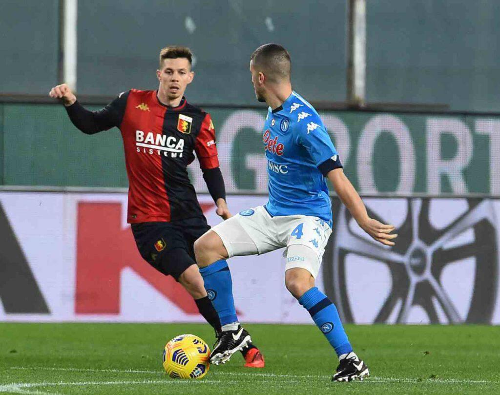 Genoa-Napoli, Gattuso cade a Marassi (Getty Images)