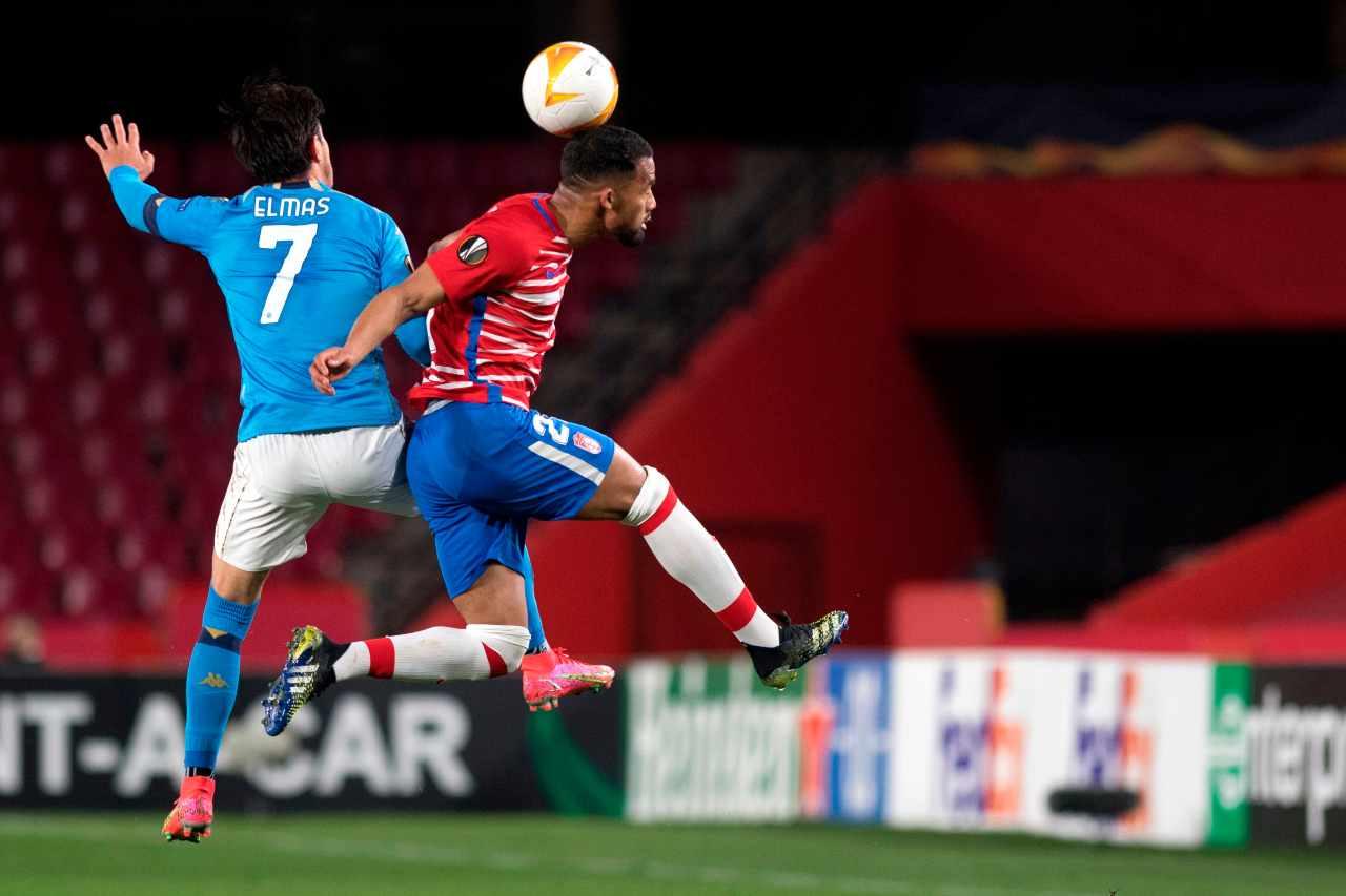 Europa League, Granada-Napoli (foto Getty)