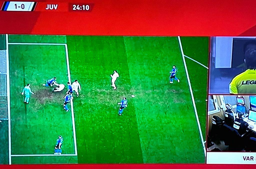 Inter-Juve, Coppa italia: lo screen al VAR