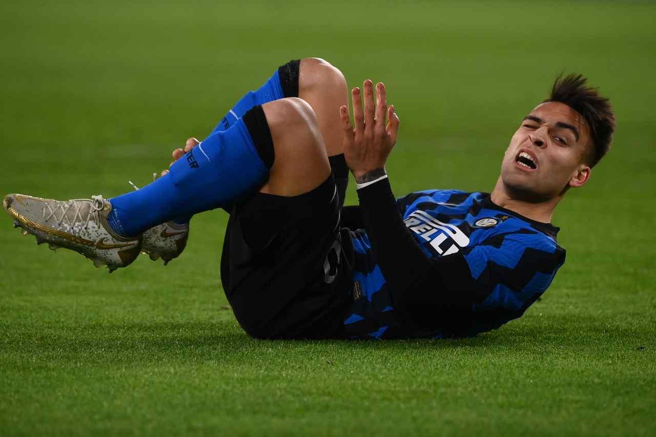 Coppa Italia, Lautaro chiede il rigore: scintille tra Conte e Bonucci