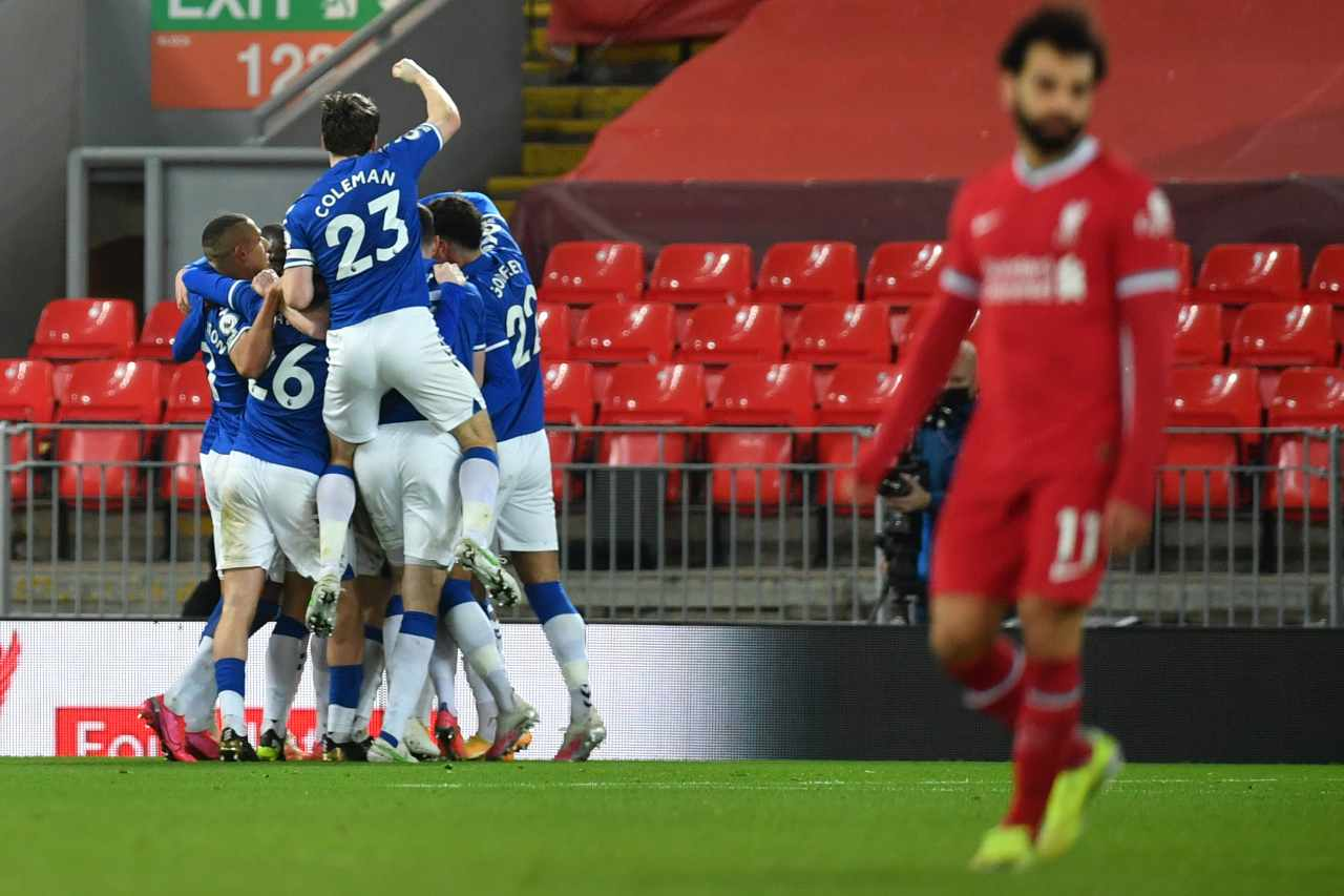 Liverpool ko, l'Everton vince il derby: crisi Klopp, i numeri in Premier League