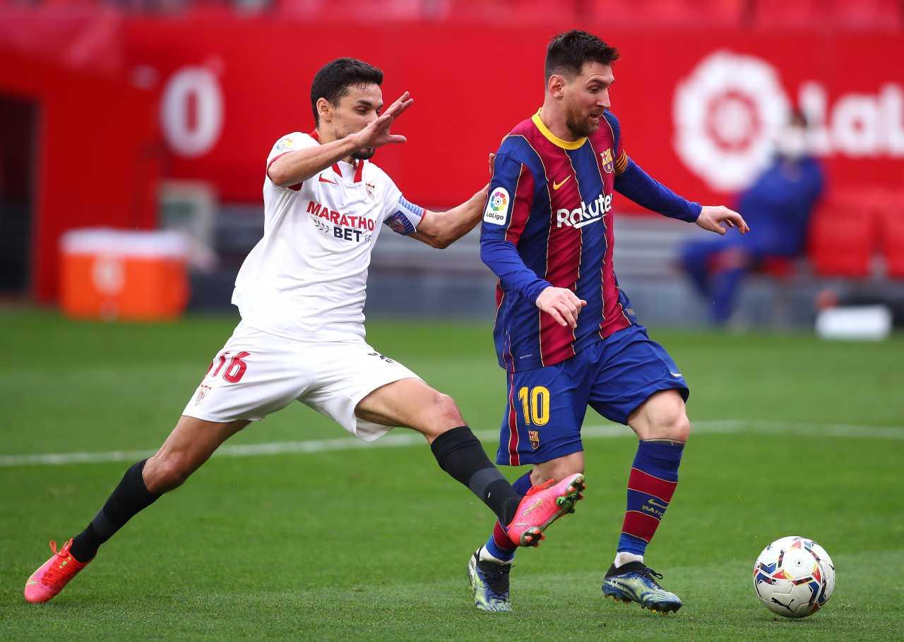 Siviglia-Barcellona, Messi firma la serie record