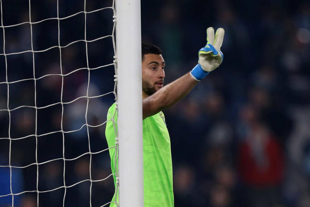 Strakosha Lazio infortunio