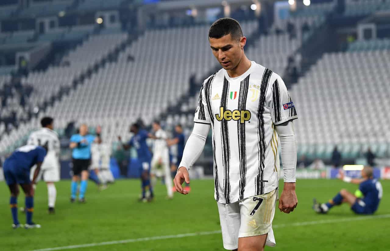 Cristiano Ronaldo non incide in Champions League contro il Porto (Getty Images)
