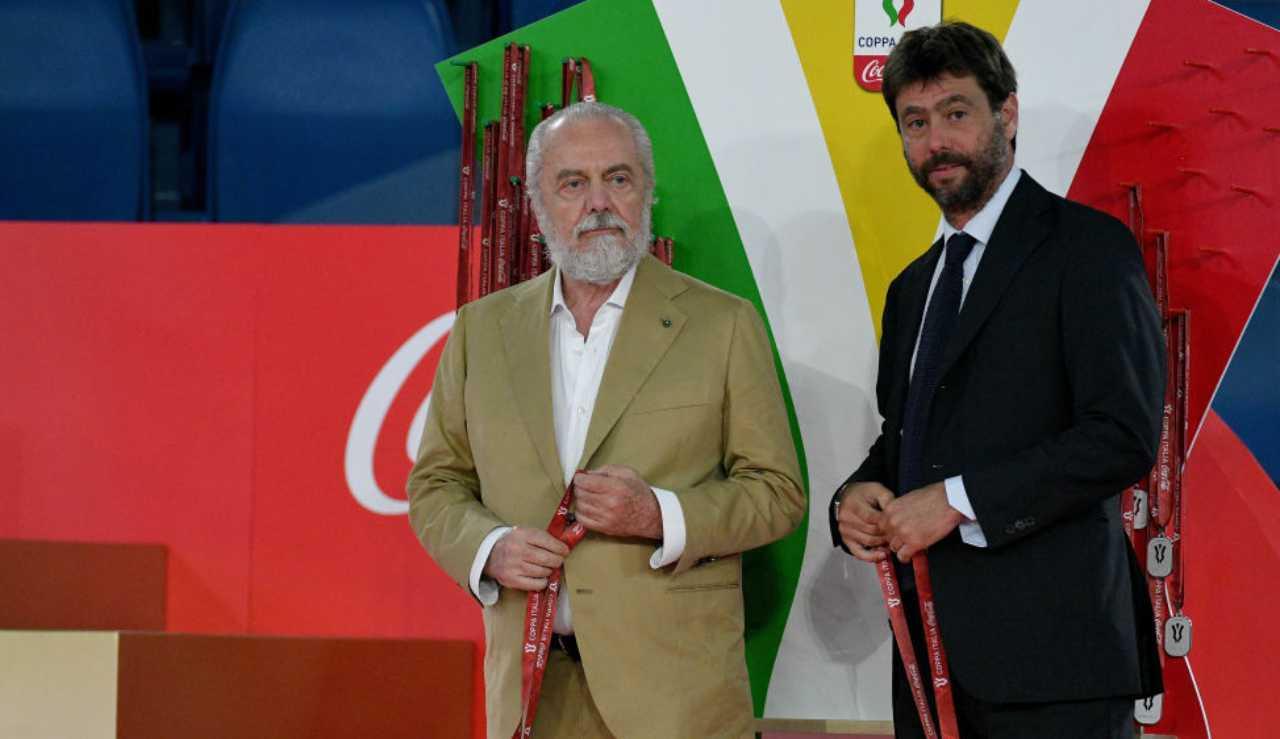 Diritti tv Serie A accordo De Laurentiis Agnelli