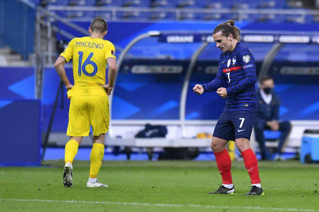 Griezmann a segno in Francia-Ucraina (Getty Images)