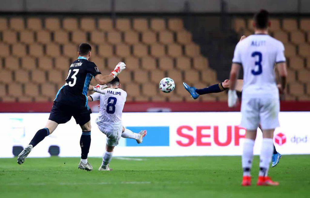 Halimi gol incredibile in Spagna-Kosovo (Getty Images)