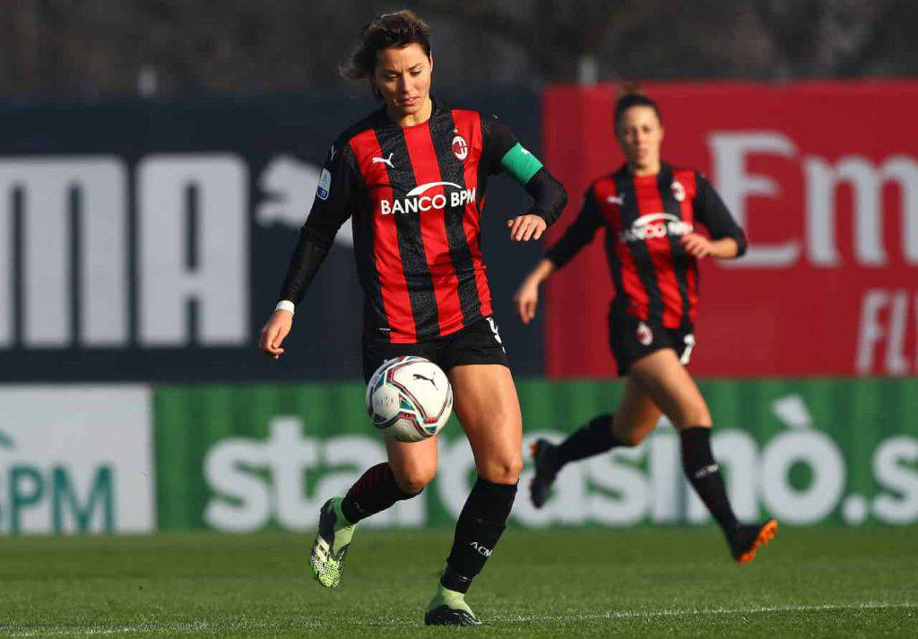 Inter-Milan, record femminile per il capitano dei rossoneri (Getty Images)