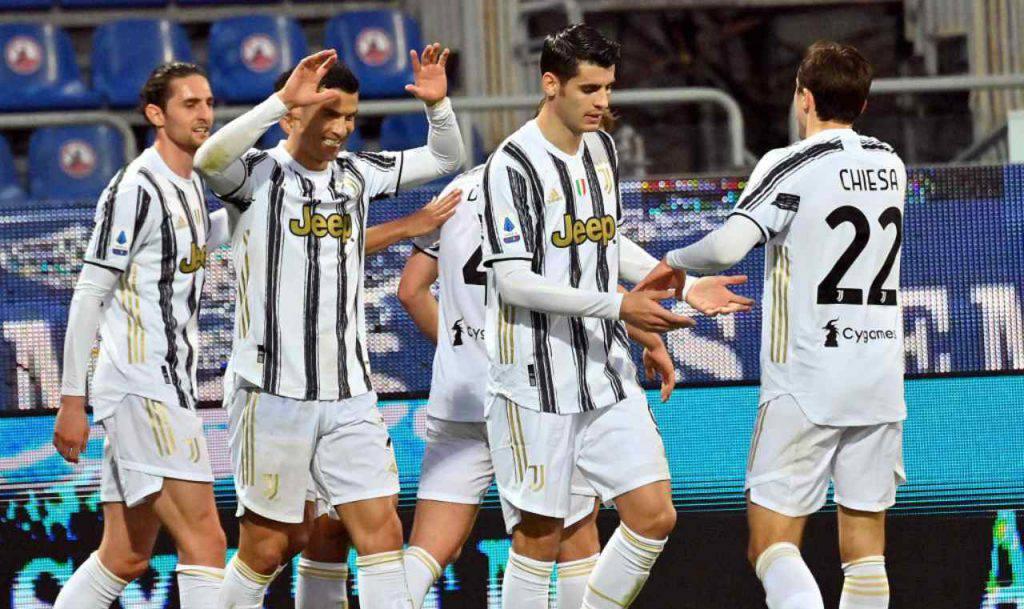 Juventus celebra Ronaldo all'Allianz Stadium (Getty Images)