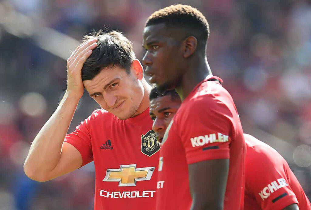 Maguire, errore in Man United-Milan (Getty Images)
