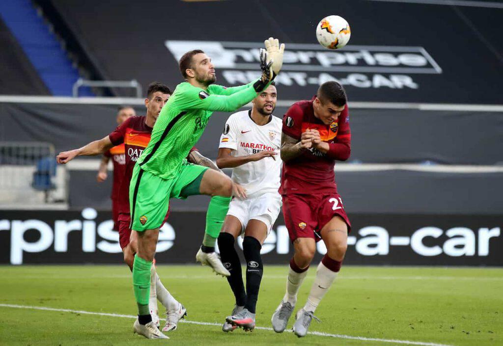 Roma, Mirante rimpiazza Pau Lopez contro la Fiorentina (Getty Images)