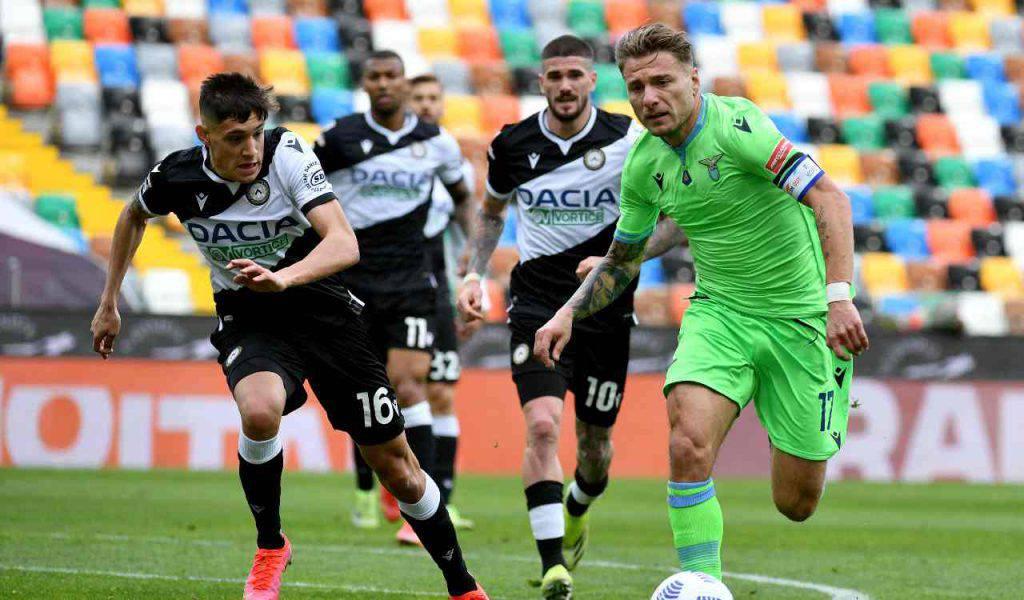 De Paul rabona in Udinese-Lazio (Getty Images)