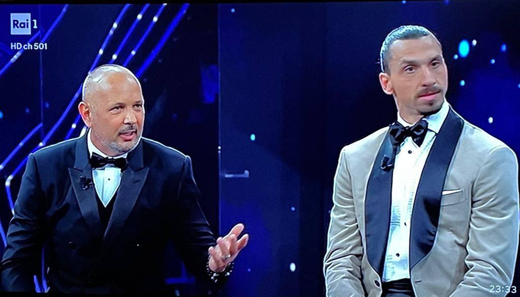 Mihajlovic e Ibrahimovic a Sanremo 2021