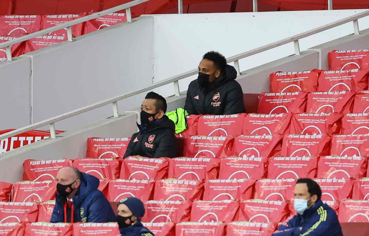 Aubameyang, la ragione dell'esclusione in Arsenal-Tottenham