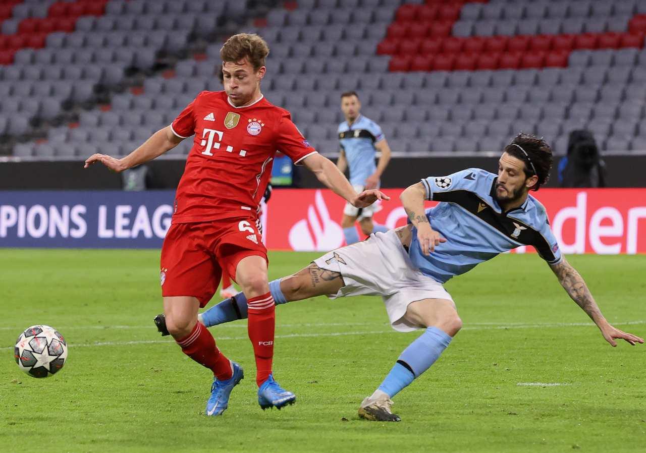Moviola Bayern Monaco-Lazio, fallo da rigore di Muriqi: analisi