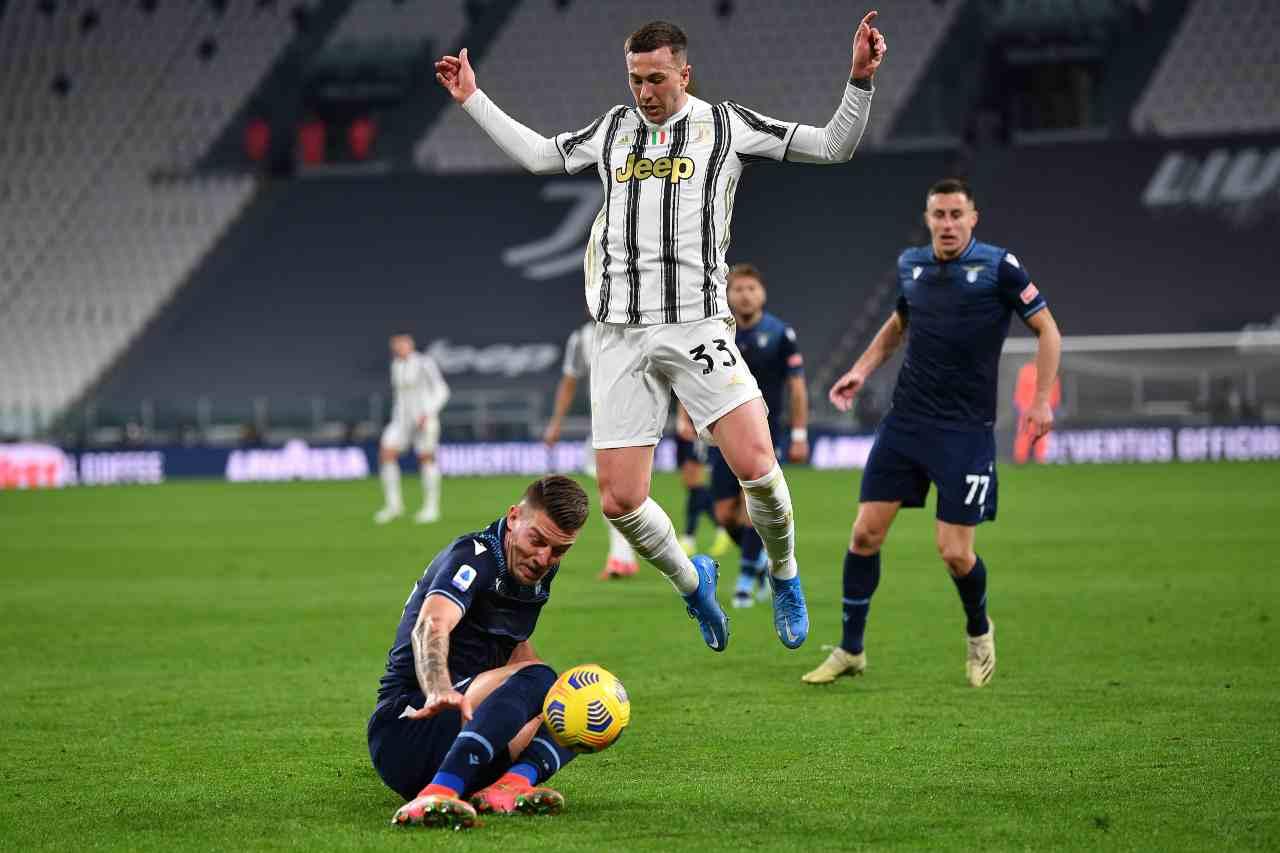 Highlights Juventus Lazio, un fotogramma del match (foto Getty)