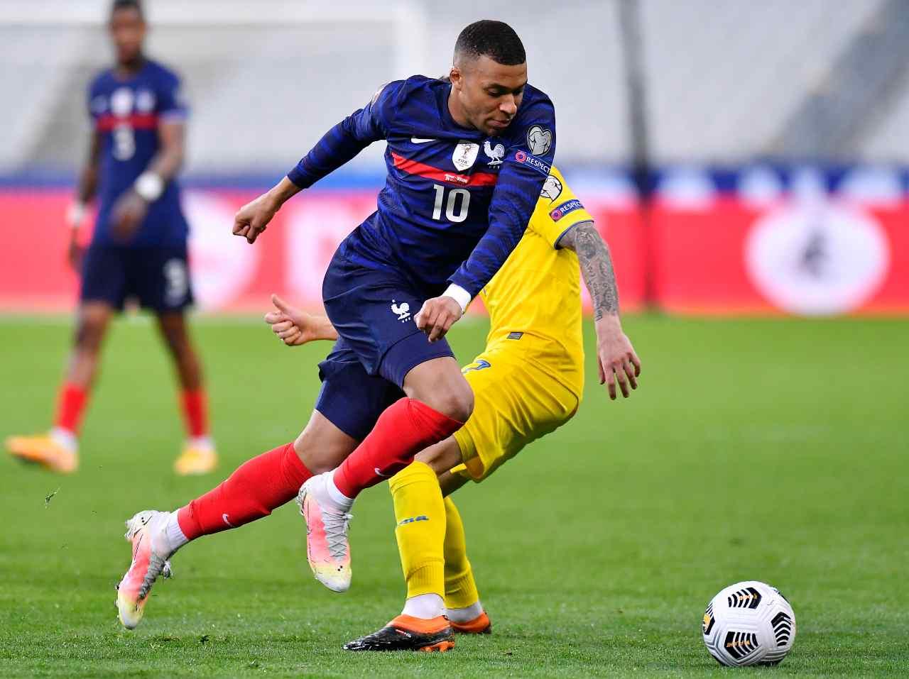 Risultati Qualificazioni Mondiali 2022, Mbappé in Kazakhstan-Francia (foto Getty)