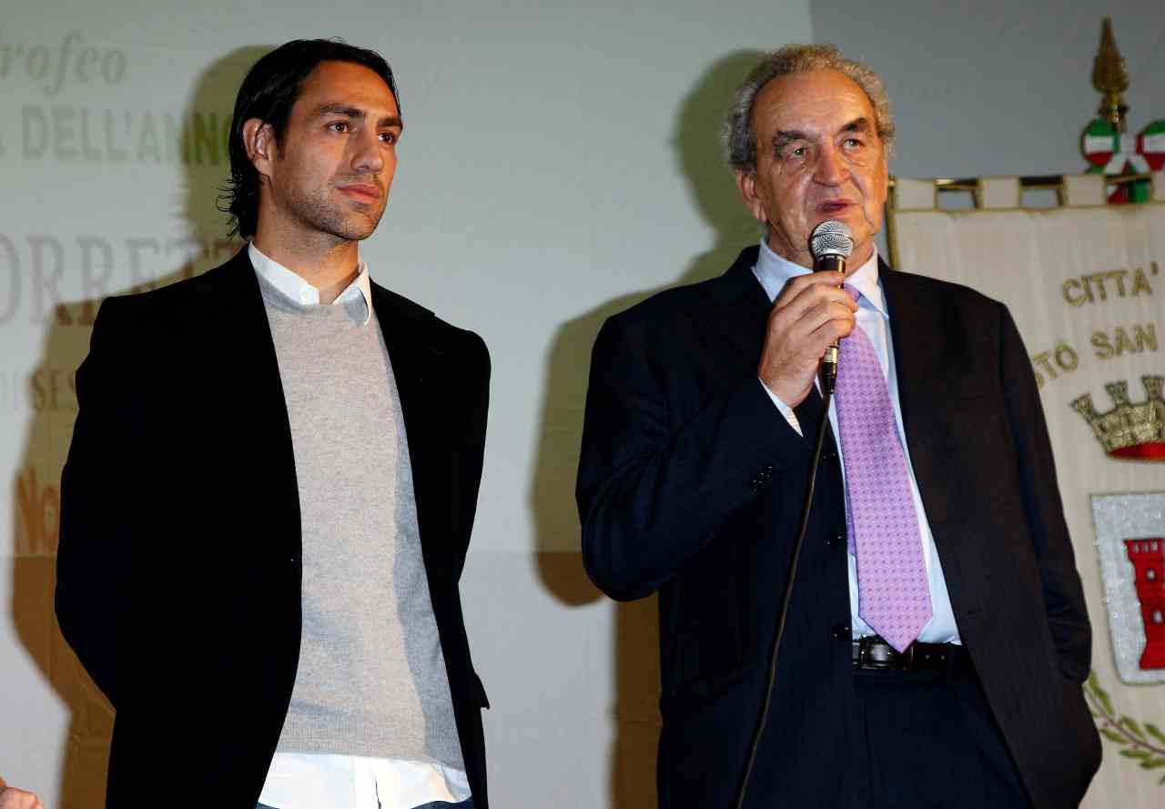 Bruno Pizzul con Alessandro Nesta (foto Getty)