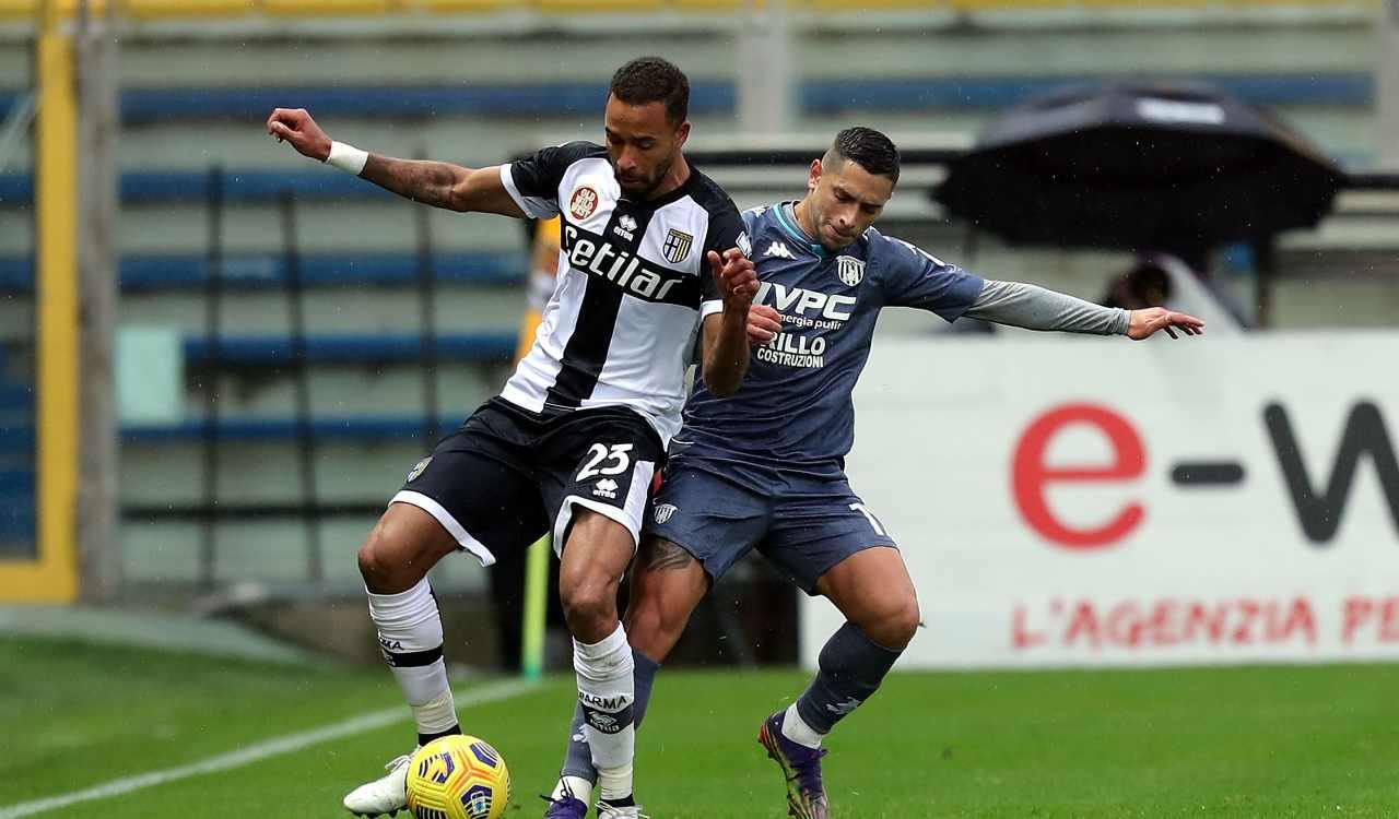 Benevento Parma formazioni