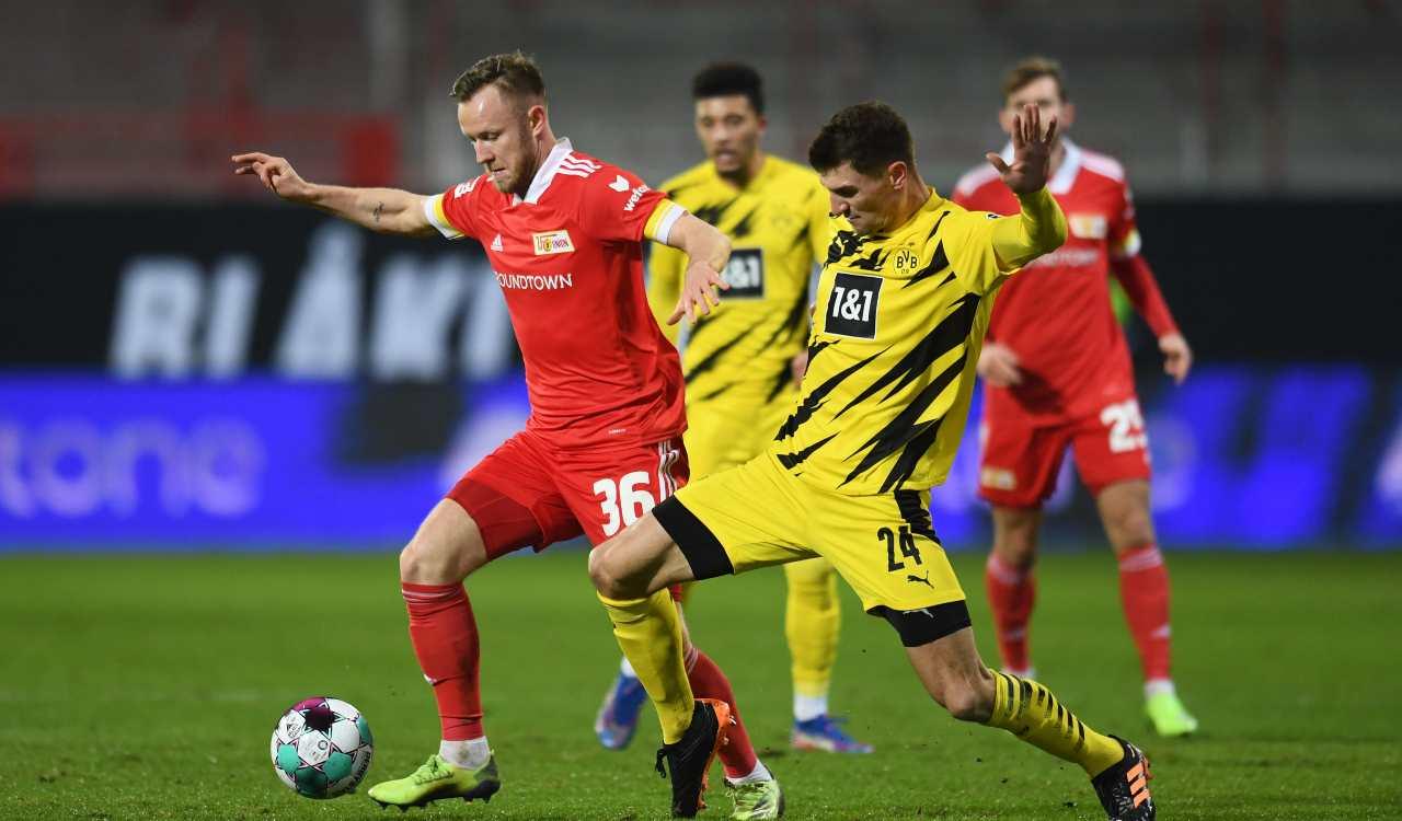 Borussia Dortmund Union Berlino formazioni