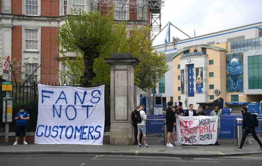 Chelsea Brighton proteste Stamford Bridge (Getty Images)