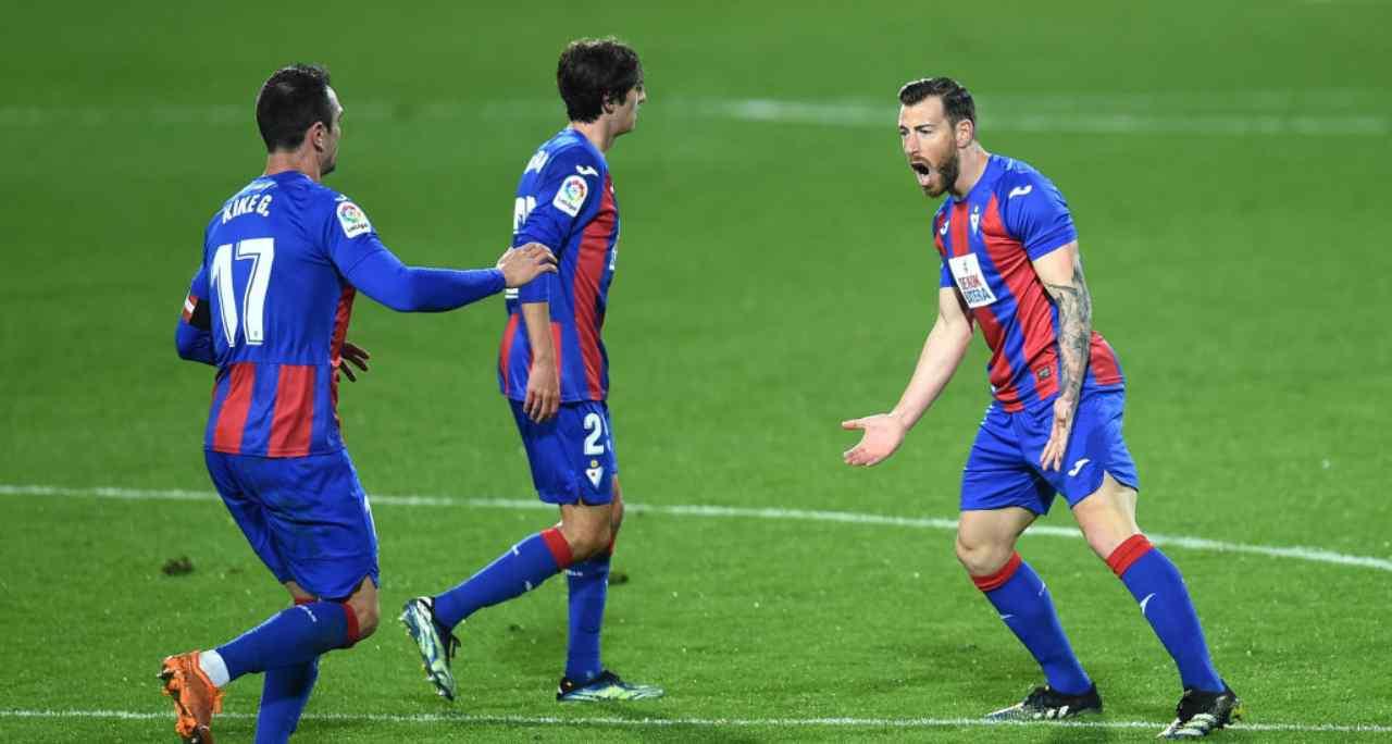 Eibar Real Sociedad formazioni