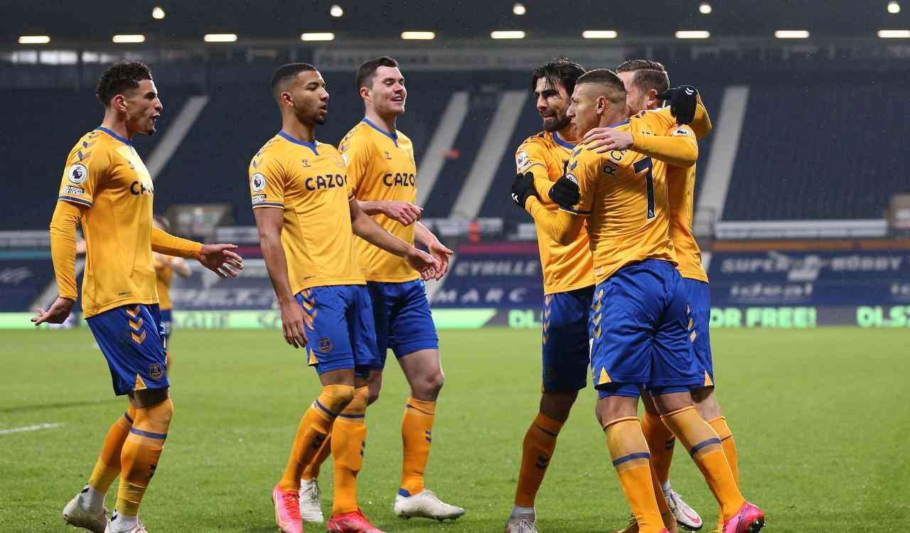 Everton-Crystal Palace formazioni